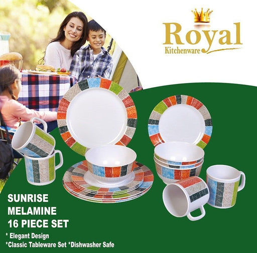 Melamine Dinner Set Sunrise 16 Piece