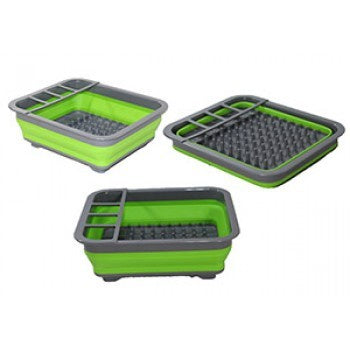 Collapsible Dish Rack Green