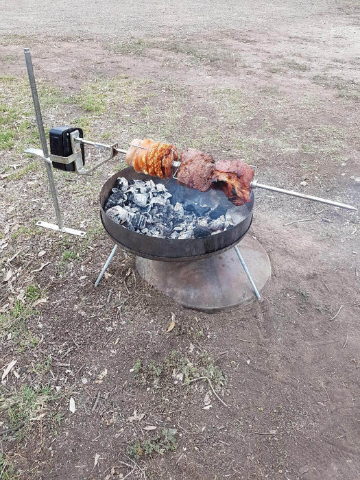 Black Steel Fire Dish