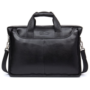 BOSTANTEN Leather Briefcase Laptop Case Business Bags for Men