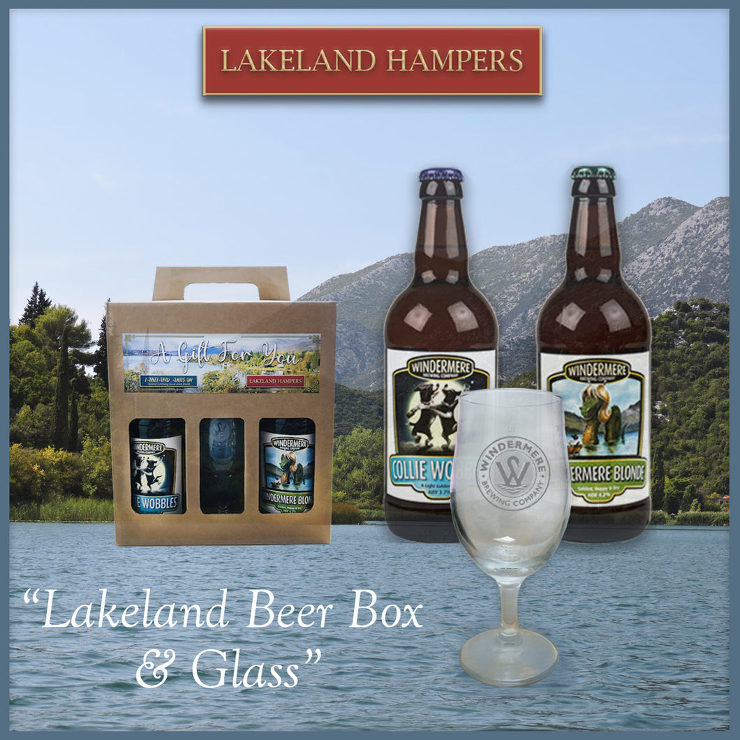 Lakeland Beer Box & Glass