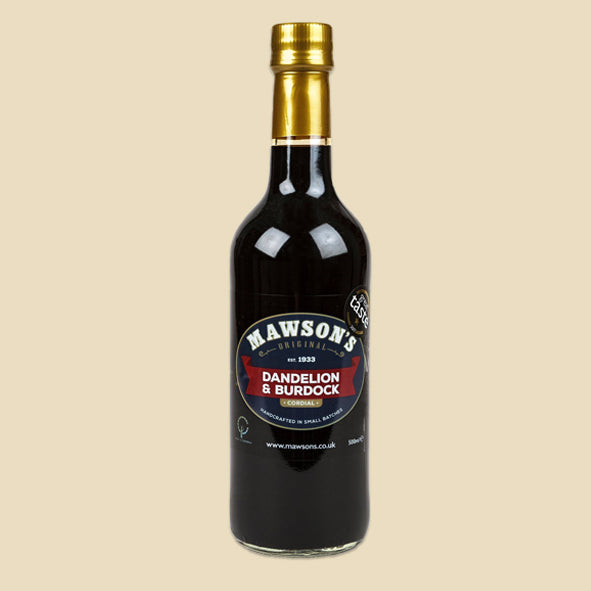 Dandelion & Burdock Cordial - 500ml Glass Bottle