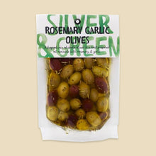 Load image into Gallery viewer, Silver & Green Rosemary Garlic Olives