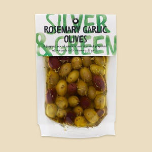 Silver & Green Rosemary Garlic Olives