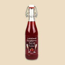 Load image into Gallery viewer, Lakeland Raspberry Fruit Syrup for Gin & Prosecco