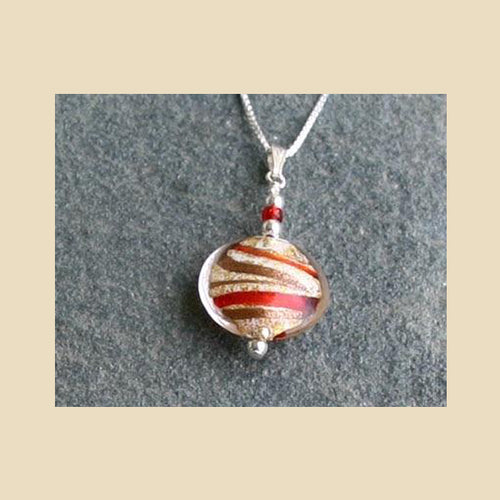 Julietta Pendant - Red and Gold