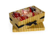 Load image into Gallery viewer, Small Wicker Effect Box with 5 Gin Liqueur Baubles