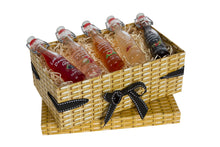 Load image into Gallery viewer, Small Wicker Effect Box with 5 Miniature Gin Liqueurs