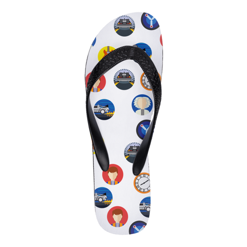 Back to the Future Themes Flip Flops