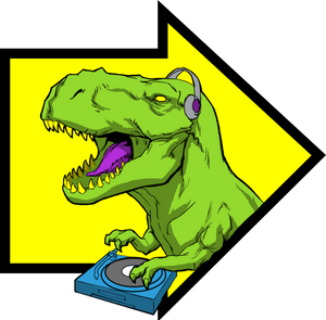 T. Rex the DJ Black Mug