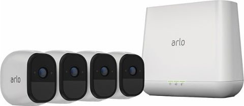 Arlo Pro HD Security Camera Bundle w/ Solar Panels (4 Cameras)