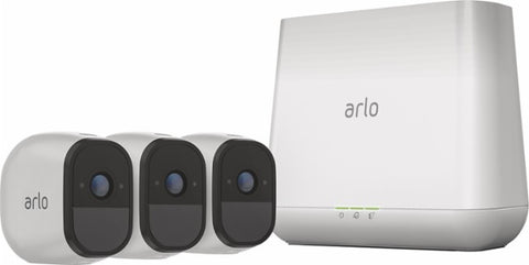 Arlo Pro HD Security Camera Bundle w/ Solar Panels (3 Cameras)