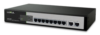 Luxel XMS-1010P 10-Port/8 PoE+ Gigabit Managed Switch