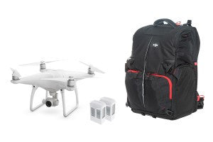 DJI Phantom 4 Quadcopter Bundle w/ 2 Extra Batteries + Manfrotto Backpack