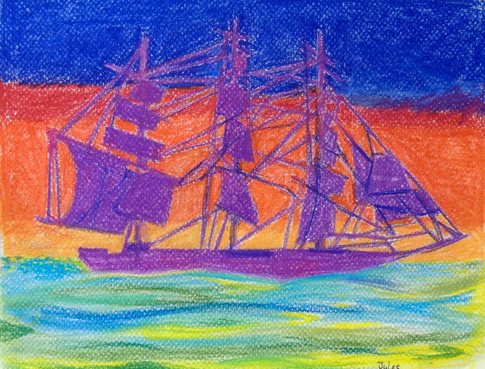 Champion of the Seas, pastels, 9