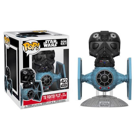 POP! Star Wars- Tie Fighter with Tie Pilot Exclusive 15cm (4503740907616)