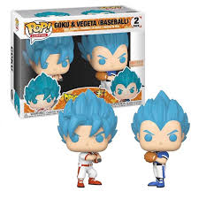 POP! Dragon Ball Z -  Goku e Vegeta Baseball Damaged