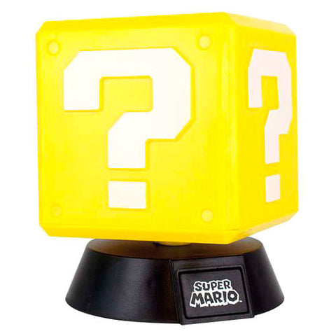 Lâmpada 3D Question Block Super Mario Bros Nintendo