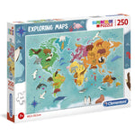 Animals in the World Exploring Maps puzzle