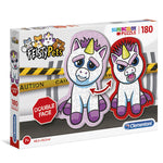 Feisty Pets Unicorn Shaped Double Face puzzle