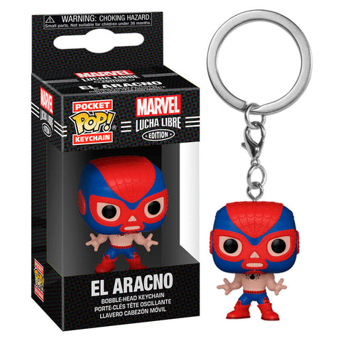 Pocket POP keychain Marvel Luchadores Spiderman El Aracno