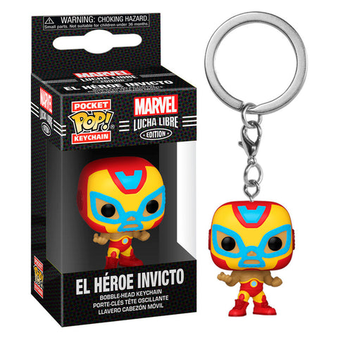 Pocket POP keychain Marvel Luchadores Iron Man El Heroe Invicto