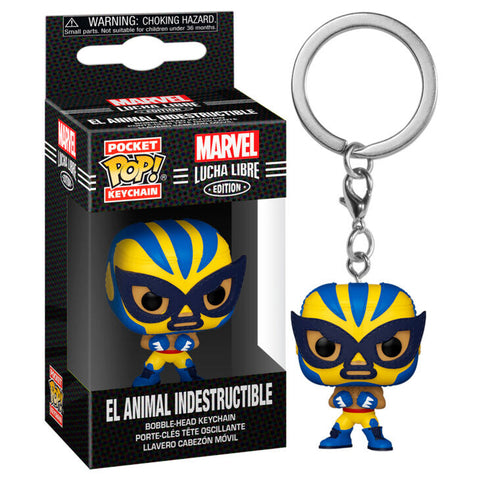Pocket POP keychain Marvel Luchadores Wolverine El Animal Indestructible