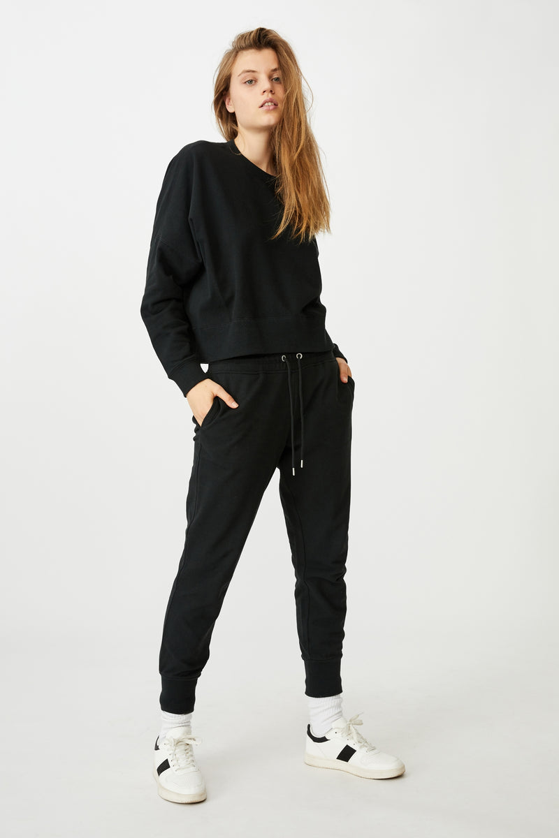Black  | high waist sweatpants