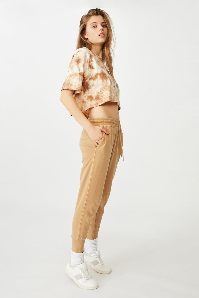 Orange | high waist sweatpants