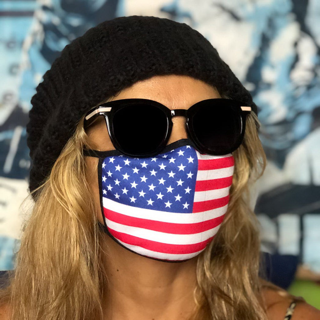 American Flag Face Cover Style