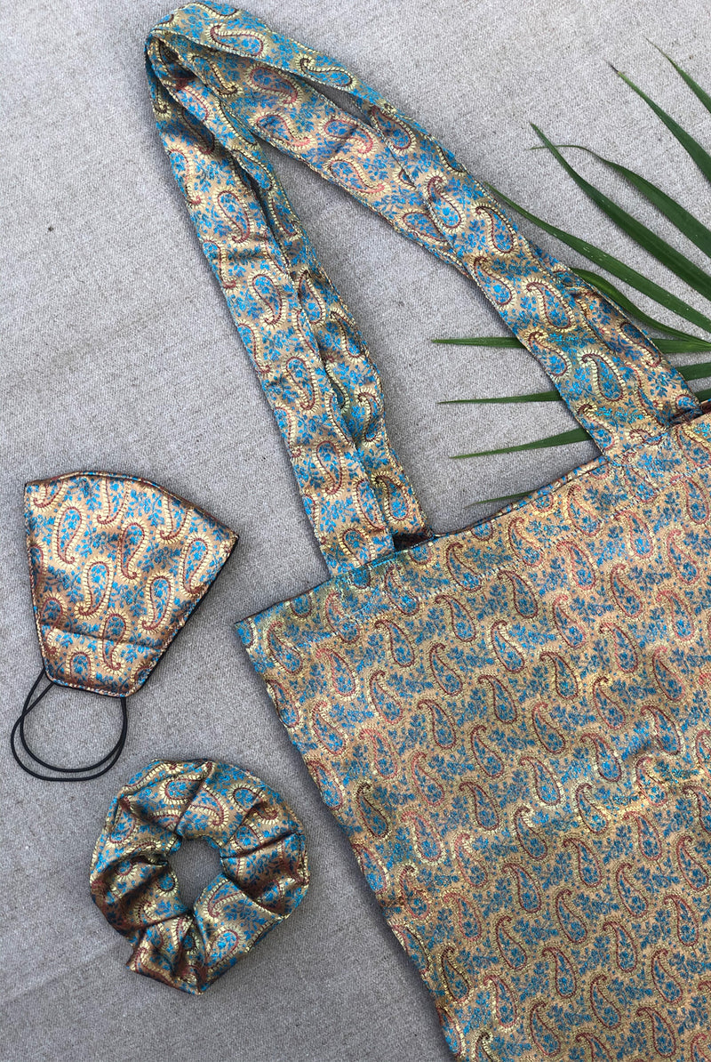 Batik  | mask & bag set