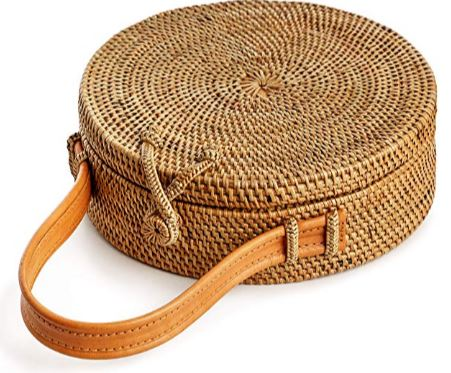 Boho Fashion Rattan Bag Handmade Natural Unique Chic Made by Artisans with Love