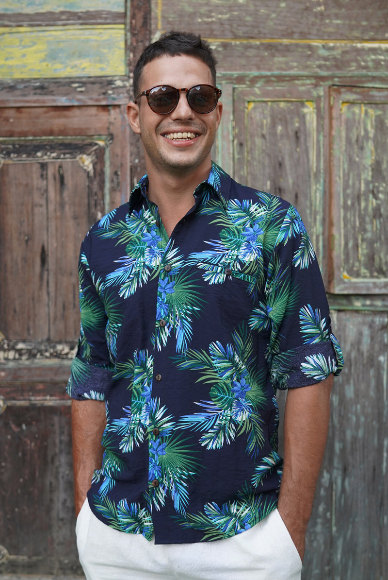 Tropical blue | men shirt