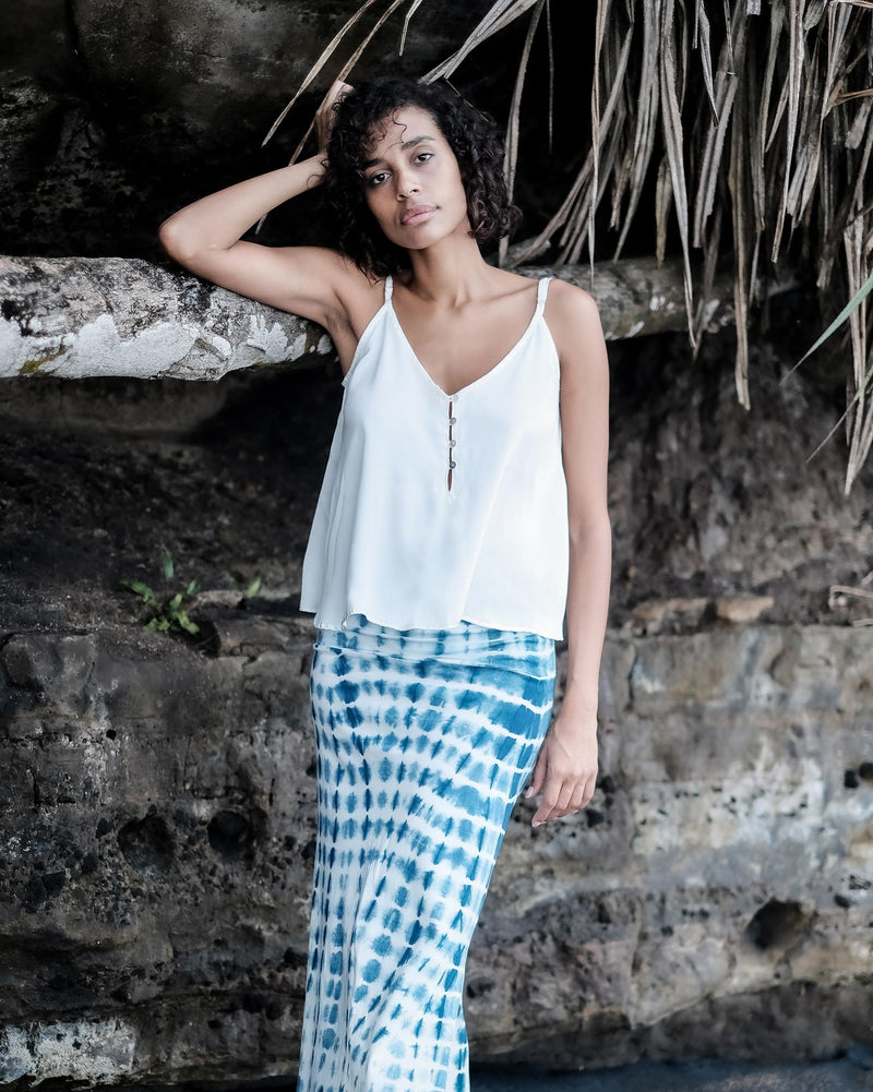 F L O R E N C E | indigo long skirt