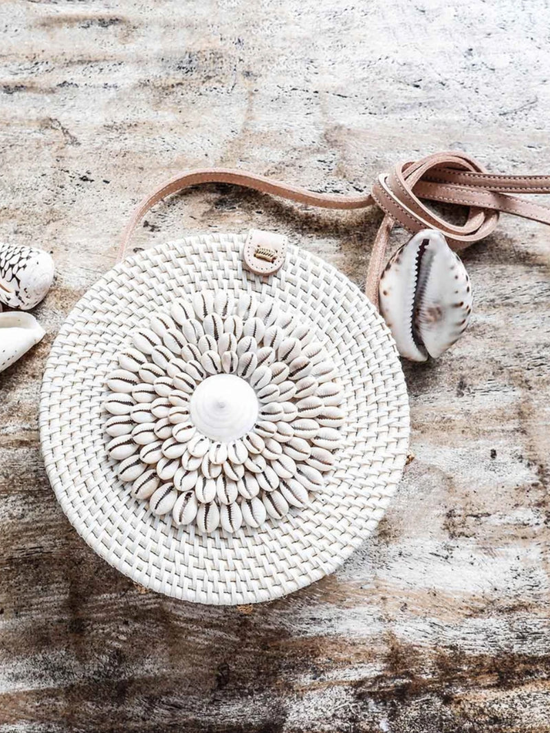 Boho fashion rattan bag  | shells exotic | Made by Artisans
