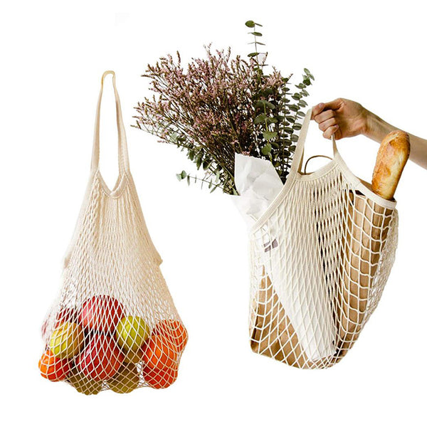 Reusable biodegradable mesh bags eco friendly grocery shopping fruit produce net bag