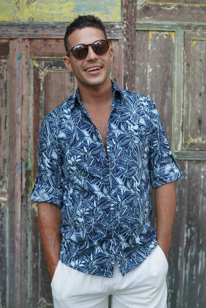 Indigo tropical | men shirt