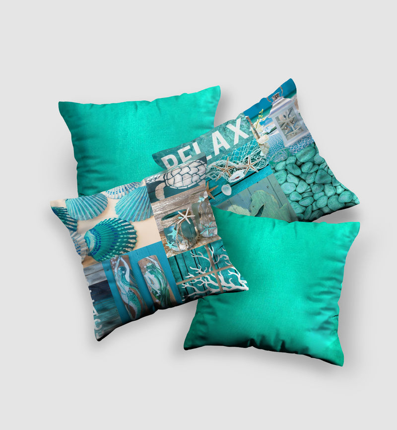 Cover Cushion | Blue Lagoon Style (4 pcs)