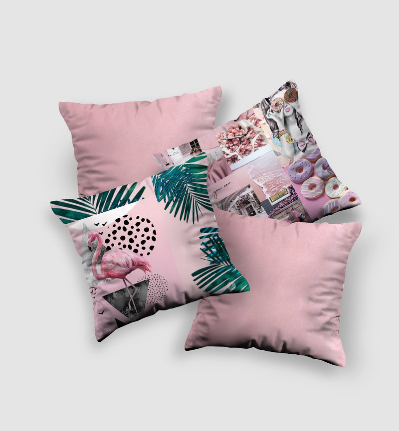 Cover Cushion  | Flamingo Style (4 pcs)