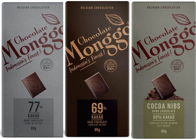 Set of 3 pcs of  Dark Chocolate Monggo