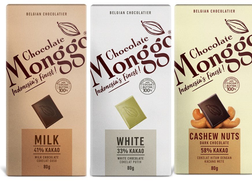 Set of 3 pcs of Chocolate Monggo