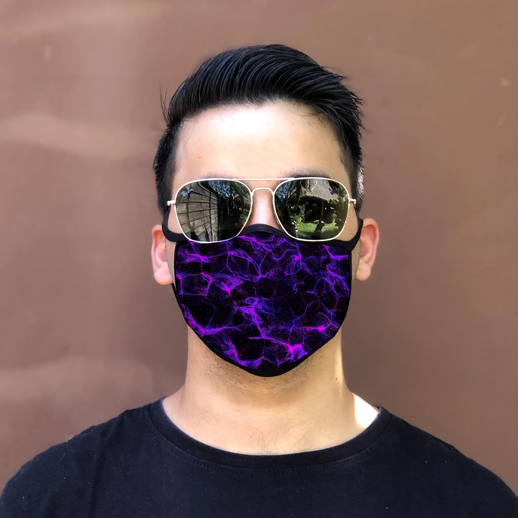 Purple Lighting Face Cover Style