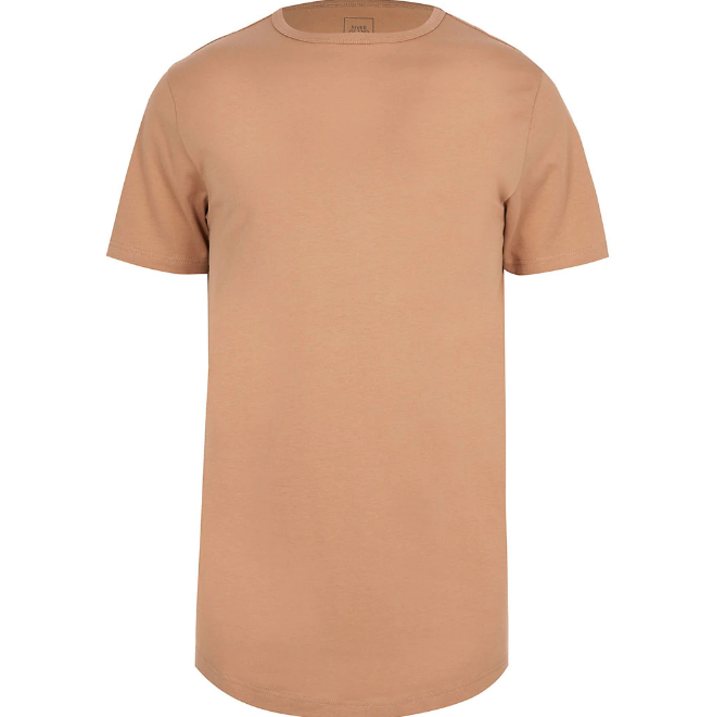 Cream | curved hem T-shirt