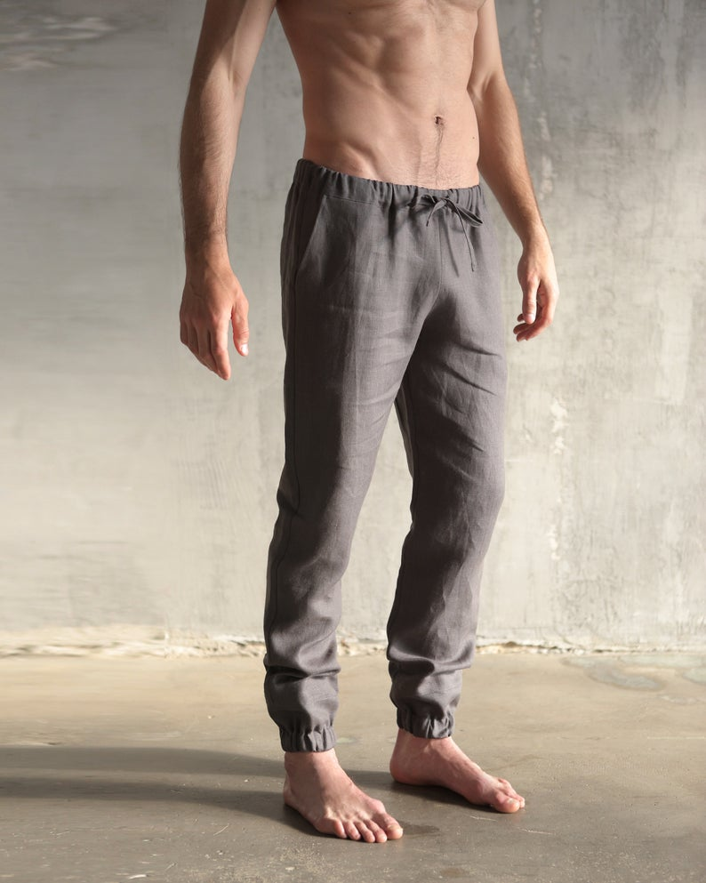 Keoni  | charcoal grey linen pants