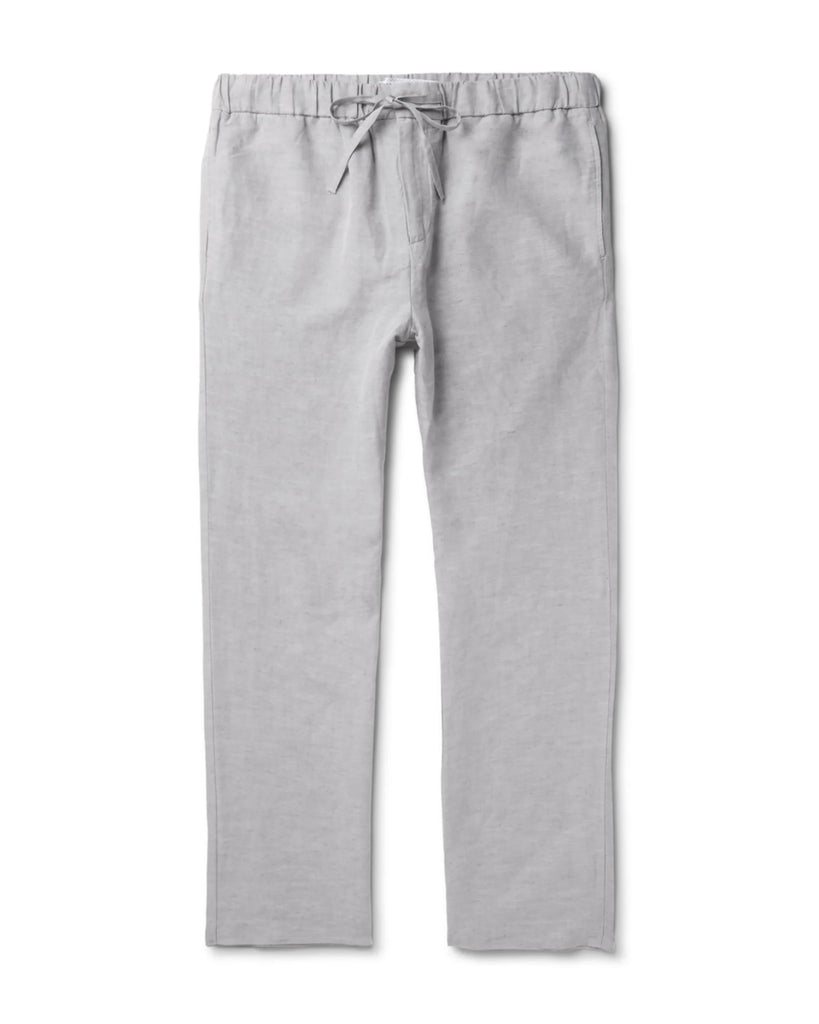 Kai  |  light grey linen pants with Zipper