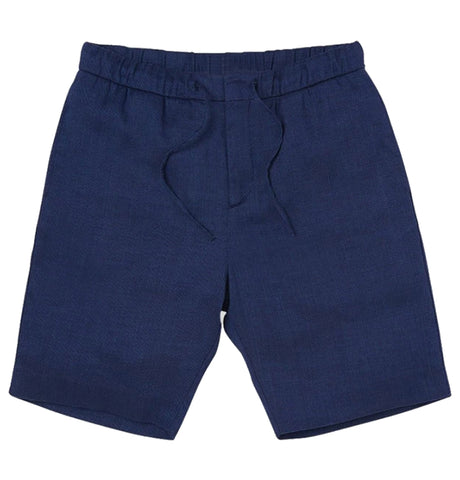 Keanu Linen Short - Navy Blue