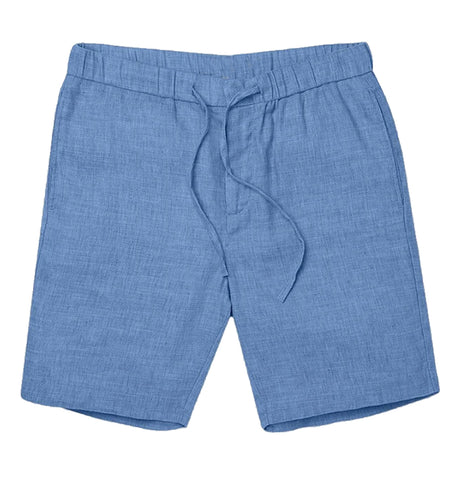 Keanu Linen Short - Smoky Blue