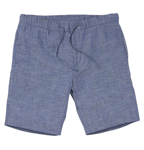 Keanu Linen Short - Light Denim