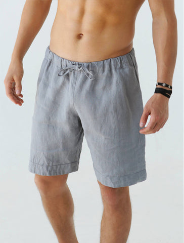 Mano Linen Short - Light Grey