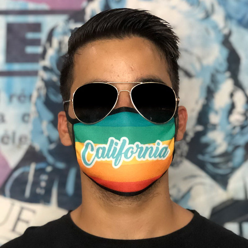 CALIFORNIA - Set of 12 face masks